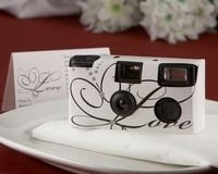 'Love' Disposable Wedding Camera with Table Card (White) -Nice for the reception tables