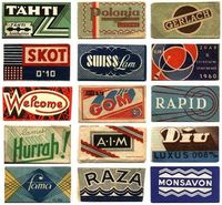 cool vintage razor blade wrappers