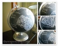 DIY Scary Places Chalkboard Globe