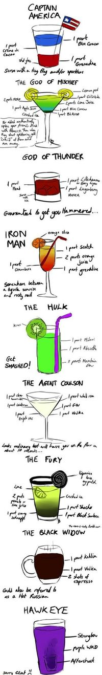 Avengers Mixed Drinks