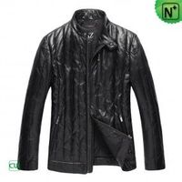 Men's Black Sheepskin Down Leather Jacket - m.cwmalls.com