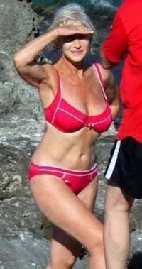 Helen Mirren.... great suit but its the great body that counts!