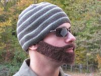 An Etsy pattern to crochet your own beard. I can't tell you how much I love this!