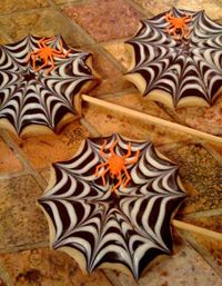 Spider Web Cookies #laylagrayce #holidays #halloween2012