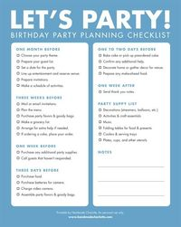 Printable Birthday Party Checklist