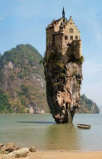 Castle House Island, Dublin, Ireland  Can I just say this would be amazing and scary all at the same time
