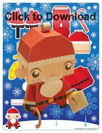 So cute to make with kids at Christmas...they have elf foldables too.