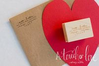 LOVE Custom Design Return Address Stamp by atouchoflove on Etsy, $19.99