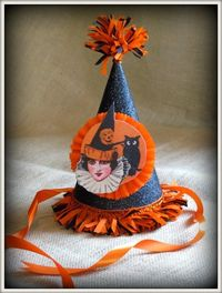 Vintage Inspired Halloween Party Hat!