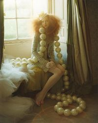 Lily Cole and Giant Pearls, Tim Walker