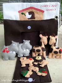 Noah's Ark with Animals Free Pattern