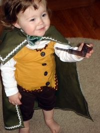 Baby Baggins! Too cute! Parent win.