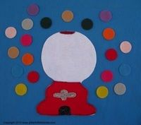 Fun with Gumball's Flannel Board Story This is a great Felt Board Story that can be used to help story time become interactive for young preschool and kindergarten age children.