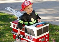 fireman with truck