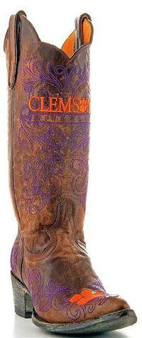Womens Gameday Boots Clemson