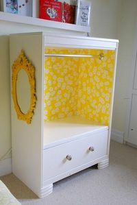 Upcycle an old dresser into a dress-up closet.