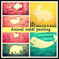 Animal Resist art for toddlers and pre schoolers