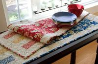 """Artful Simplicity Table Runner quilt pattern. FREE downloadable PDF from McCall's Quilting. 14 1/2"""" x 52 1/2"""""""