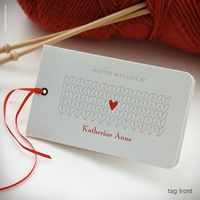 cute tag for your knitted gifts!