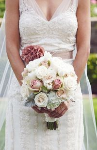 glamorous muted bouquet