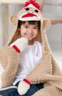 Clever Sock Monkey Blanket