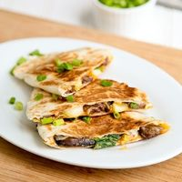 Korean BBQ beef quesadillas