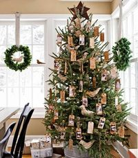 vintage looking tag tree