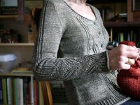 Anne Hansen does knitting like no one else.. and this looks great on her, bunches of pictures