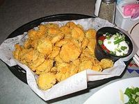 Fried Pickles. Don't knock 'em until you've tried 'em.