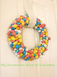 Easter Candy Wreath - Spring Decor