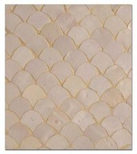 Moroccan-style fish scale tiles