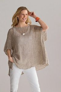 Tabard Sweater: Amy Brill: Knit Sweater - Artful Home
