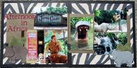 Disney Scrapbook Afternoon in Africa Jungle Cruise