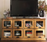 tv stand... games can also be stored in these cabinets/ shelves