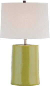Green Ceramic Table Lamp for LR.
