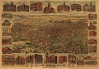 Los Angeles, California, 1891. From the Panoramic Maps collection at the Library of Congress.