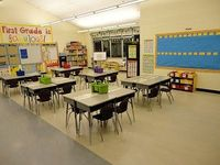 Clean and airy classroom