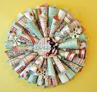 Scrapbook Wreath
