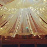 tulle & christmas lights
