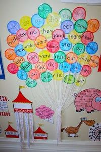 Love the idea of the sight word balloons - have students read only specific colours to practice fluency!
