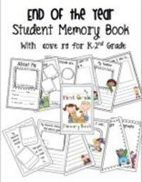 End of the year memory book for K-2!