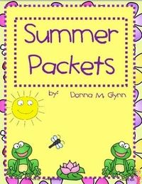 Are you looking for something to send home to reinforce skills over the summer. This packet is your answer. It has a calendar with an activity to...