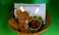 Squirrel Acorn Counting Activity