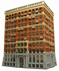 #LEGO Home Insurance Building in Chicago