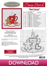 Winter Collection Hot Cocoa; free cross stitch pattern from Sullivans