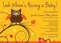 Printable Baby Shower Invitation Owl Fall Autumn by OhCreativeOne, $12.50
