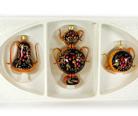 This �€œTea time�€ Christmas ornaments set have 3 items: two tea pots (2'' and 2.4'') and traditional Eastern European samovar (4�€). Each item is hand painted by a skilled artist and will be ...