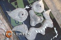 DIY Spooky Tree Faces made with scrap paneling