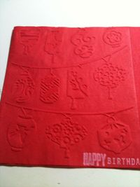 Emobossed napkins I made using my Cuttlebug for my hubby's 40th b-day party.