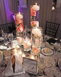 Outstanding Tall Floating Candle Centerpieces With Flowers Wedding Interior Design Ideas Gentotryabchikinfo